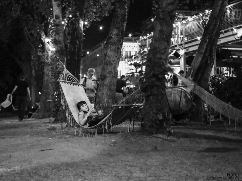 Street Photography - In the hammock