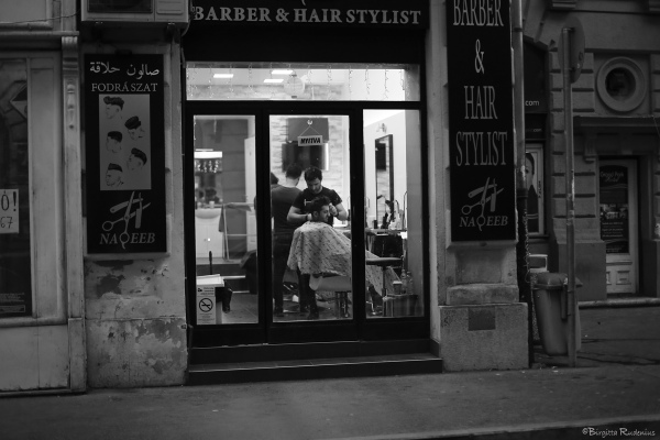 Street Photo - Barbershop.
